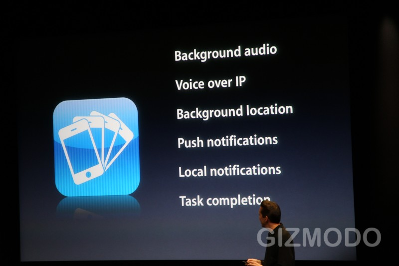 iphone OS 4.0 : Multitasking   © gizmodo.com