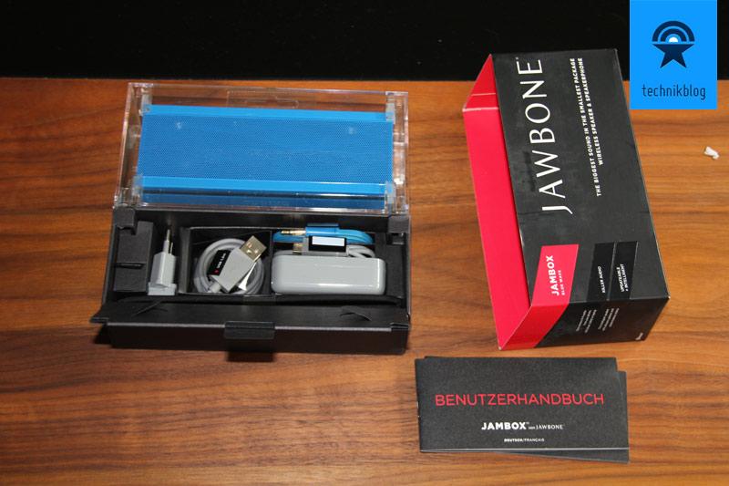 Jambox mit netter Verpackung im Schachtelsystem
