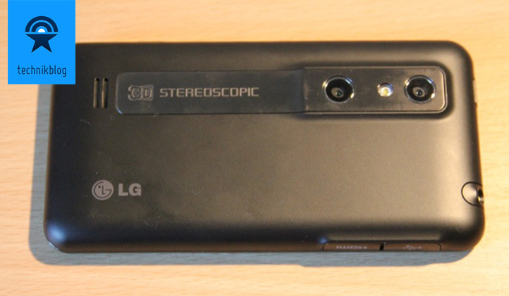 LG Optimus 3D Rückseite mit 2-Linsen-Kamera für den 3D Modus
