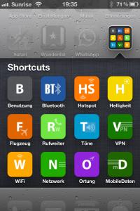 Shortcuts für Einstellungen auf dem iPHone vom Homescreen aufrufen