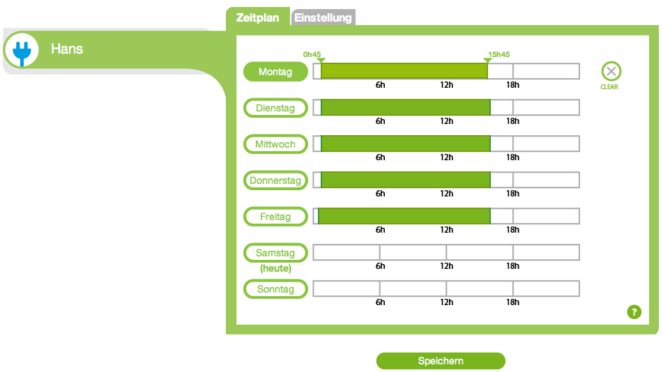 Ecowizz - Konsole für Zeitplan