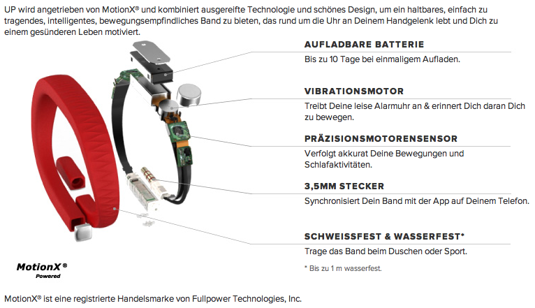 Jawbone UP - pure Technik in einem Armband