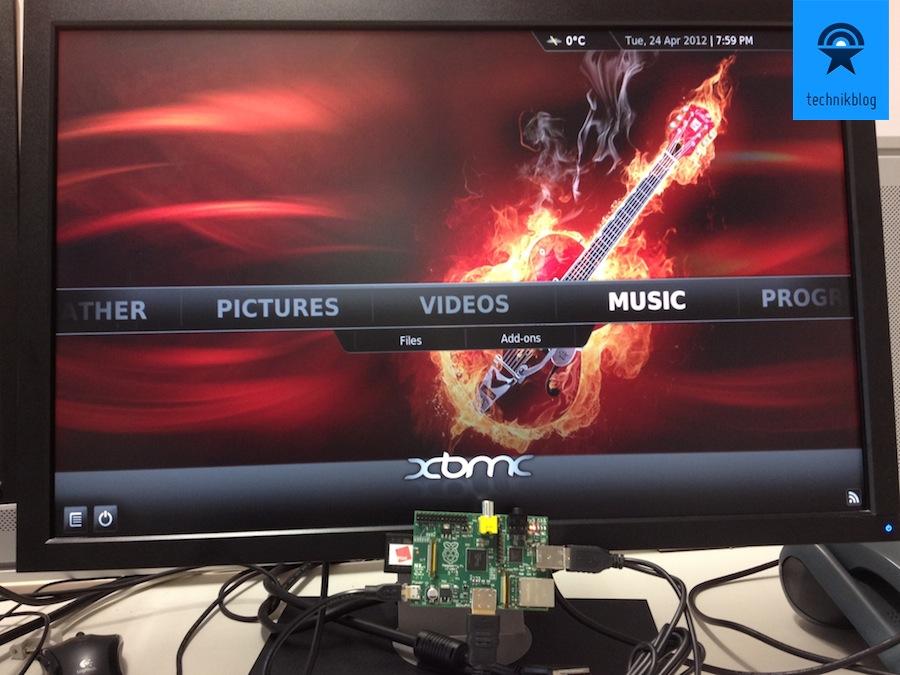XBMC läuft flüssig auf dem Raspberry Pi