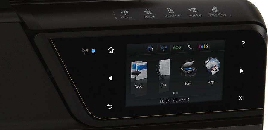 Einrichten, Verwalten, Scannen und Drucken über Touchscreen