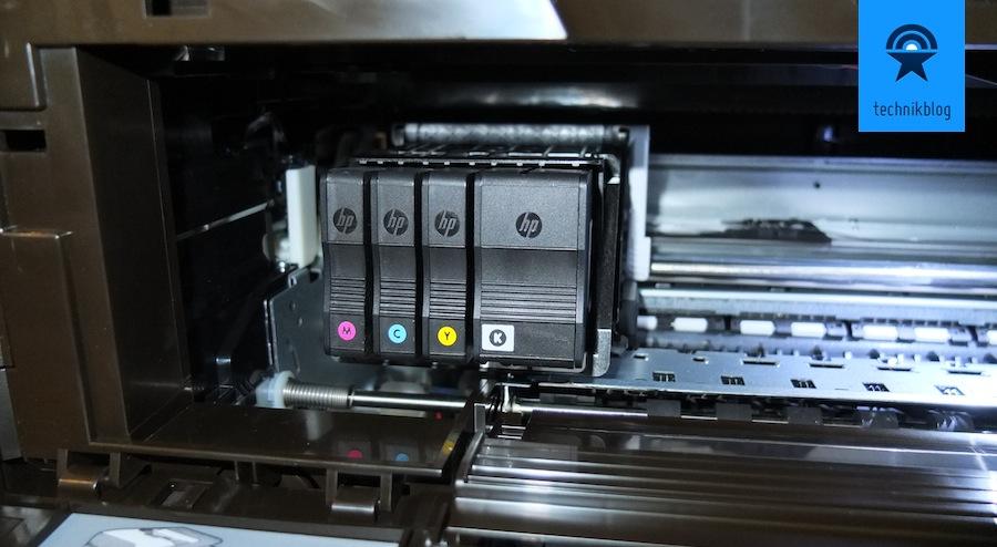 Patronen-Einschub am HP Officejet 8600