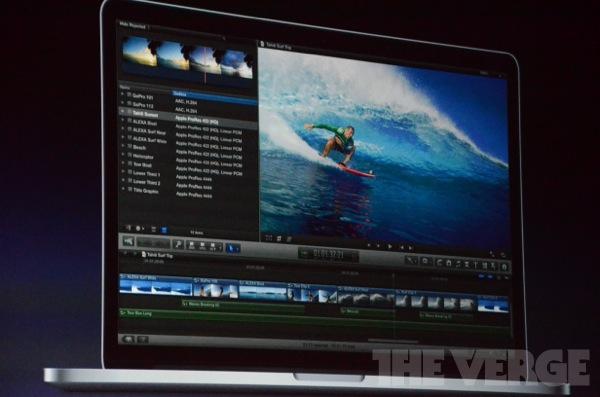 Final Cut Pro auf MacBook Pro Retina: nebst HD Preview bleibt Platz für Einstellungen!