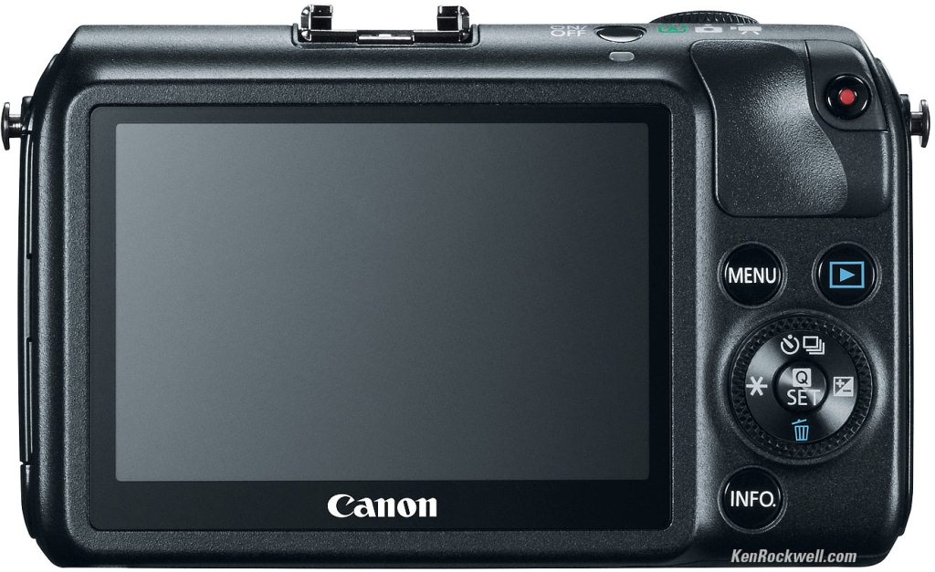 Canon EOS M Rückseite
