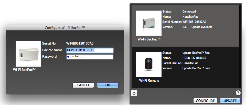 GoPro WiFi BacPac Updates