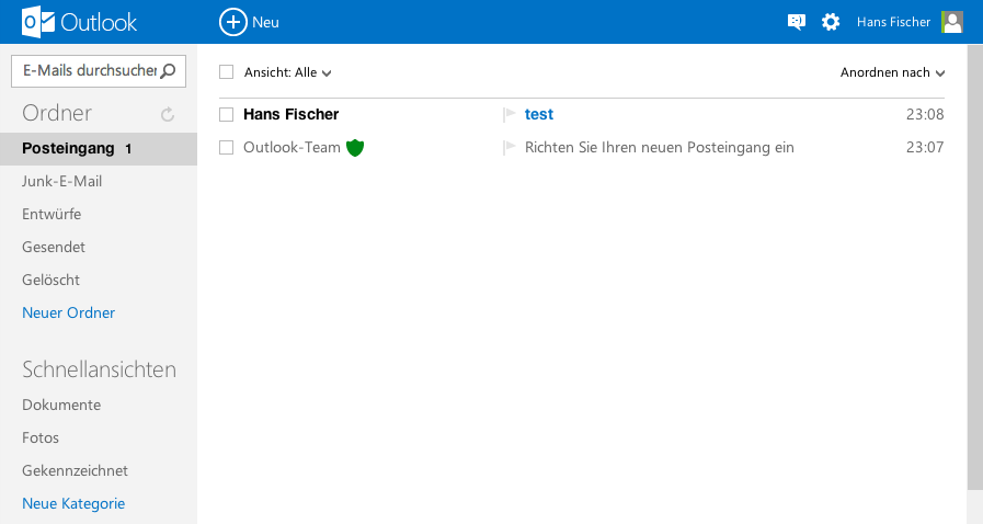Outlook.com WebInterface