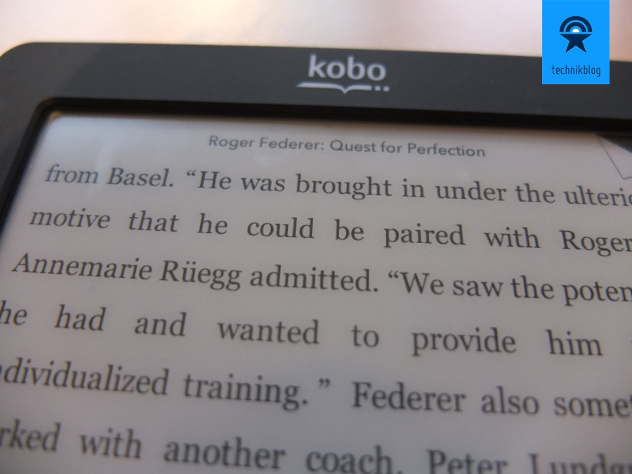 Review Kobo Touch eReader - Display