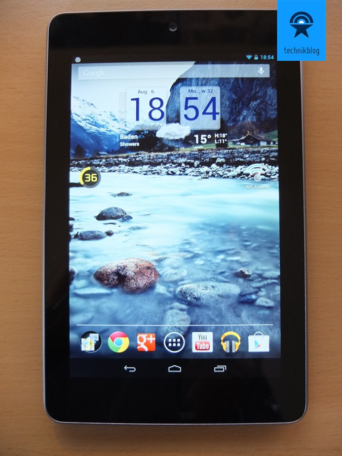 Google Nexus 7 Tablet - Homescreen