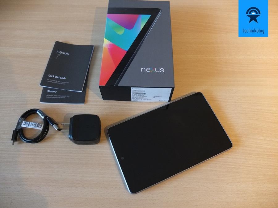 Google Nexus 7 Tablet - Lieferumfang