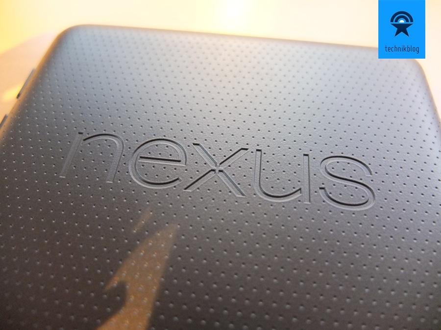 Google Nexus 7 Tablet - Rückseite