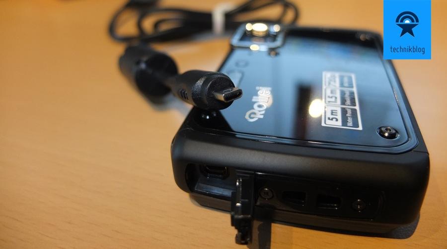 Testbericht Rollei Sportsline 99 USB Stecker