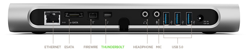 Belkin Thunderbolt Dock backside