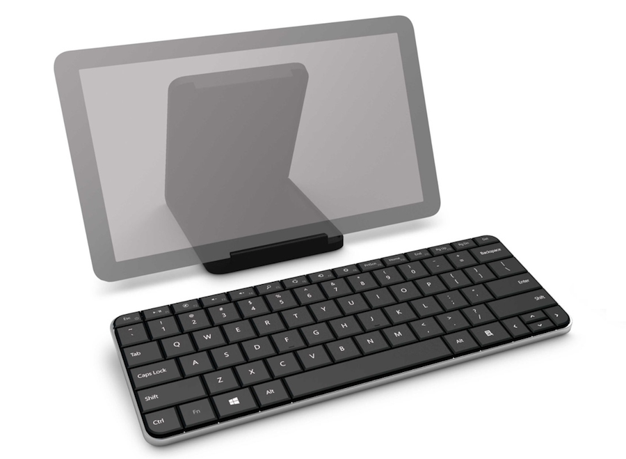 Microsoft Wedge Mobile Keyboard - Schutzhülle dient als Tablet Ständer