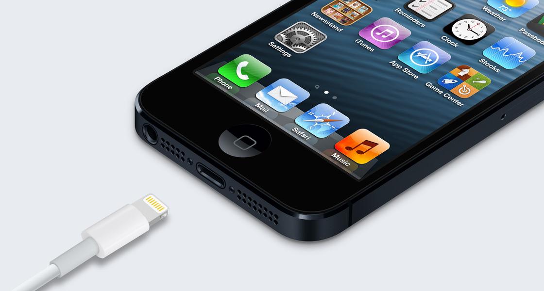 iPhone 5 mit Lightning Dock
