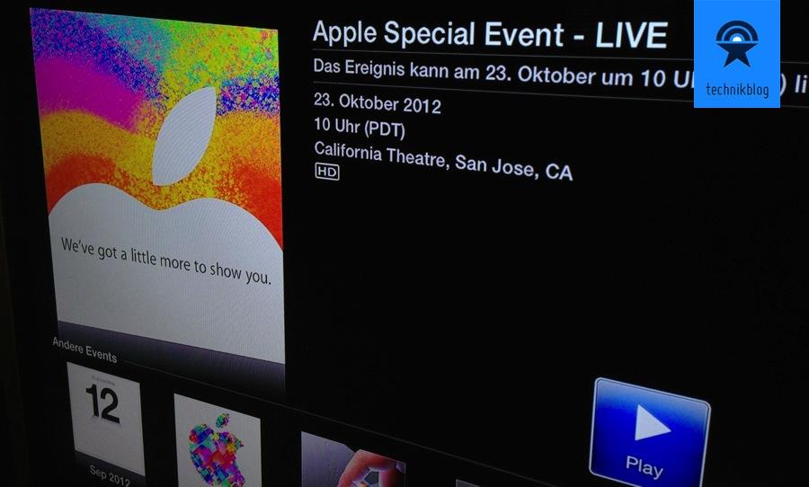Apple Stream zum Special Event heute Abend