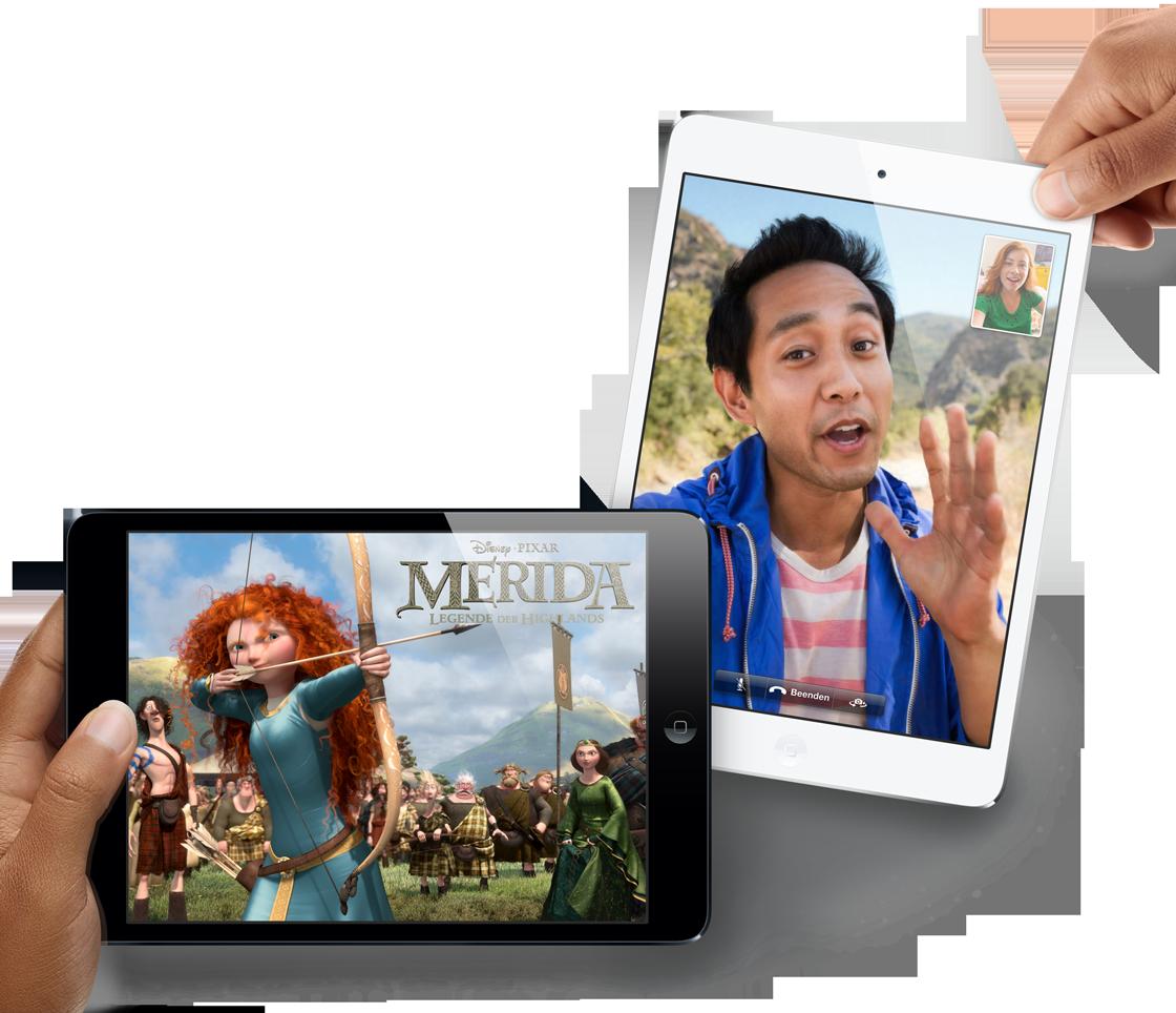 Das iPad Mini hat dieselbe Auflösung wie das iPad 1 und 2