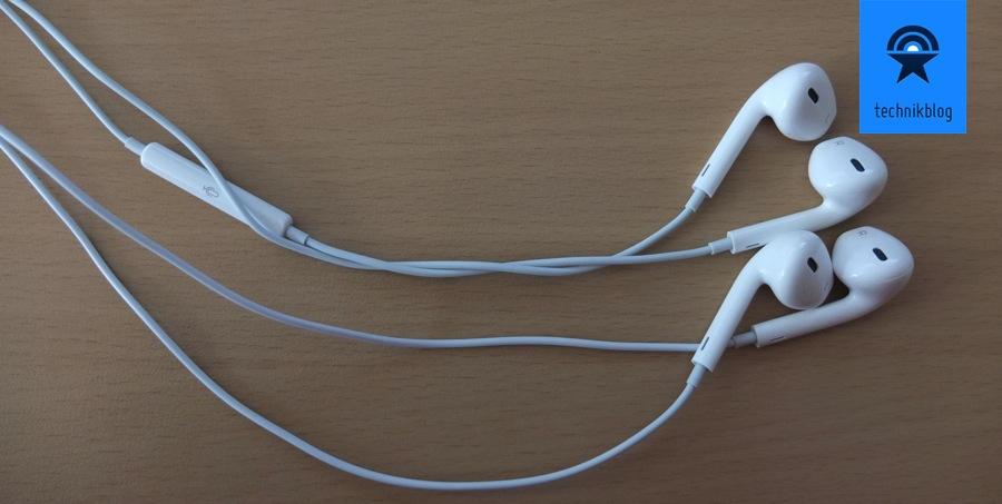 EarPods mit und ohne Steuerungselemente und Mikrofon