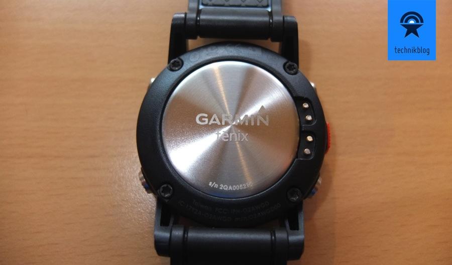 Garmin Fenix - Rückseite