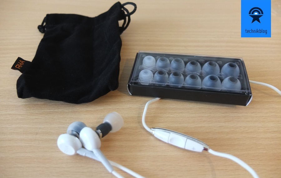 RHA MA450i In-Ears - Lieferumfang