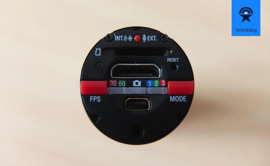 Replay XD 1080 - Bedienungselemente hinter der Kappe auf der Rückseite
