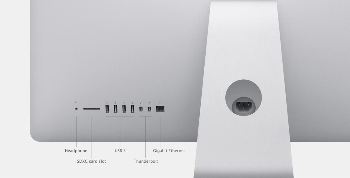iMac Anschlüsse