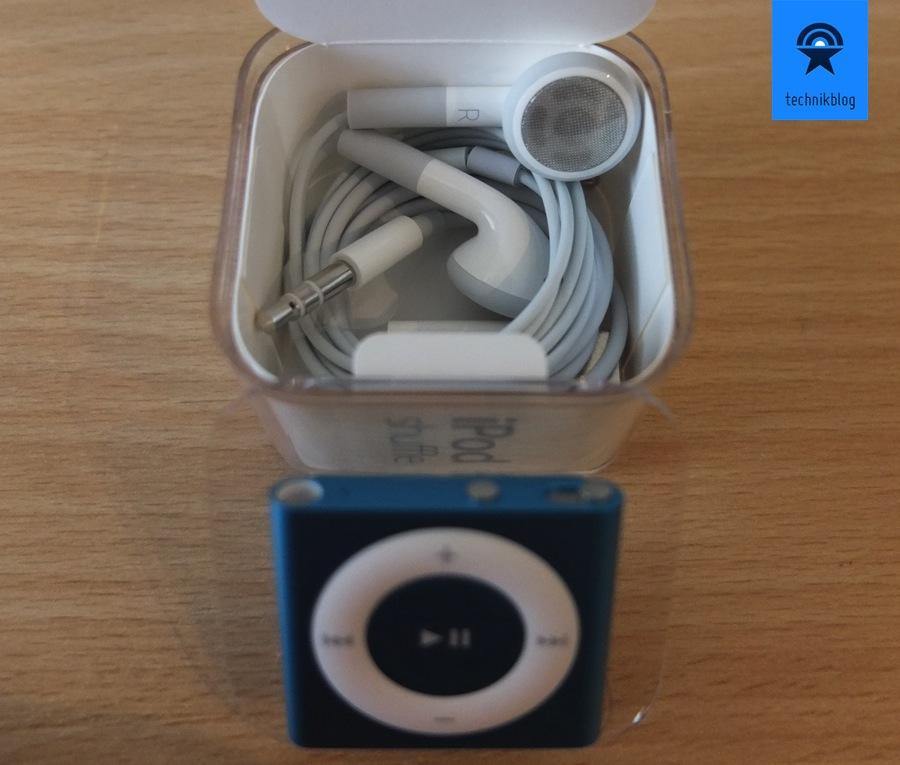 iPod Shuffle Lieferumfang - keine EarPads