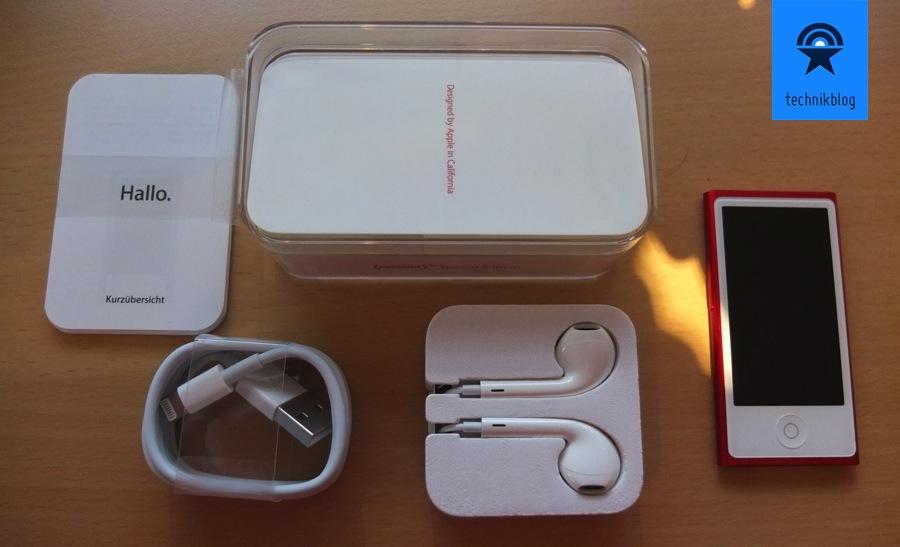 iPod nano Lieferumfang