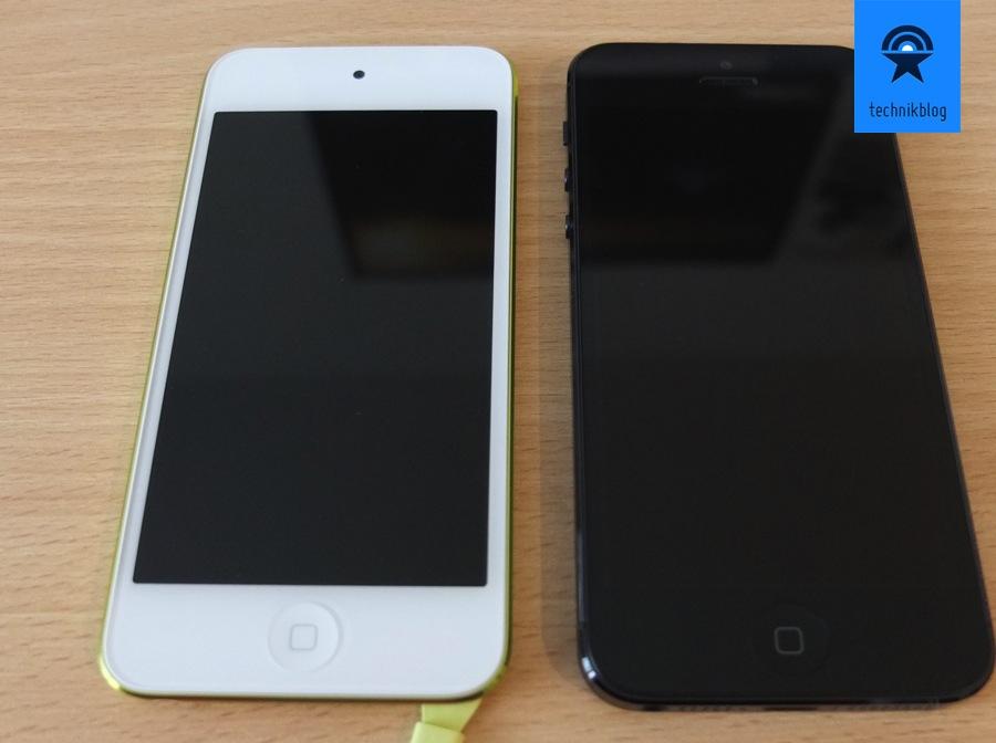 iPod touch und iPhone 5 im Vergleich