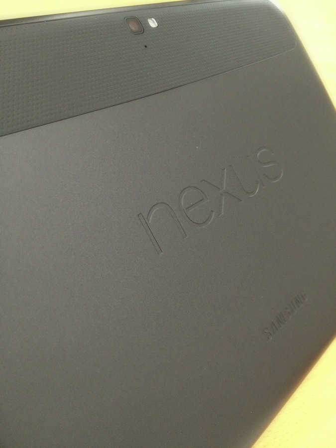 Google Nexus 10 Rückseite