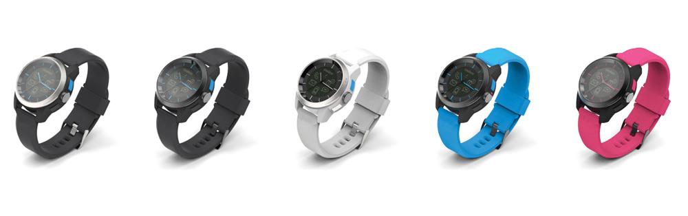 Die Cookoo Smartwatch gibts in vielen Farbkombinationen