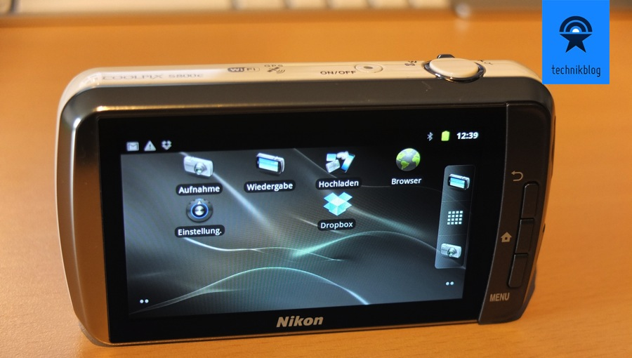 Nikon Coolpix S800C - Review - Android Betriebssystem