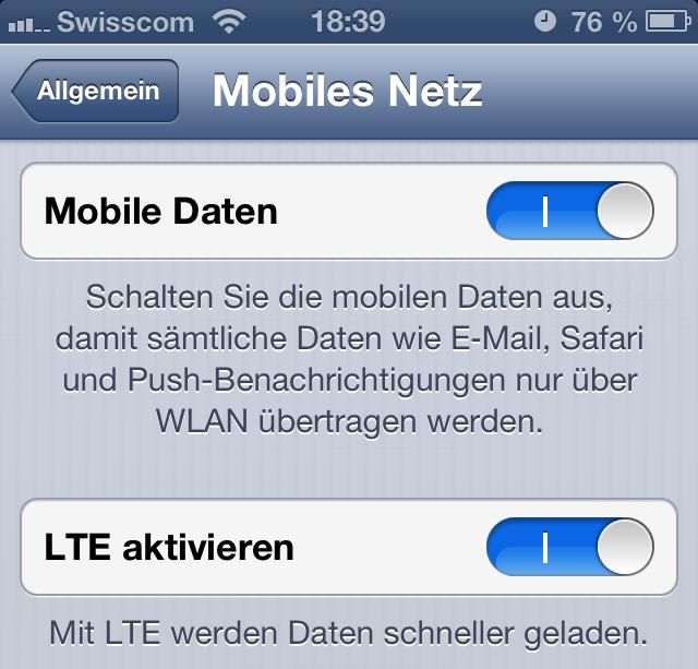 iPhone 5 LTE aktivieren