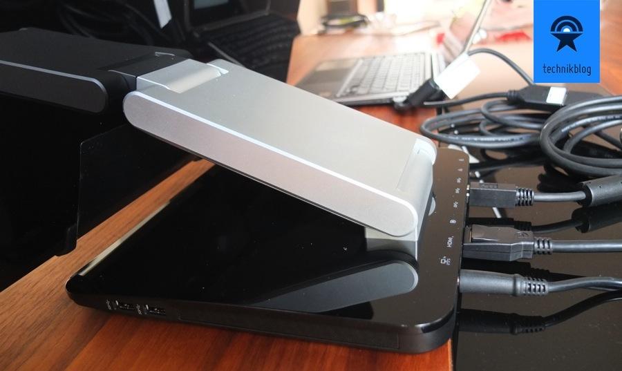 Dell S2340T Standfuss mit Neigefunktion und vielen Anschluessen