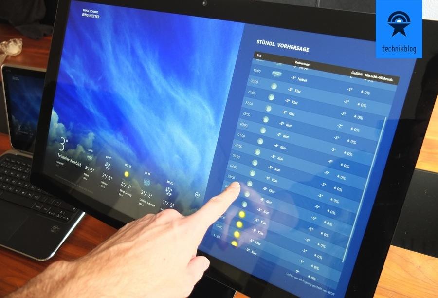 Dell S2340T kann mit dem Finger bedient werden