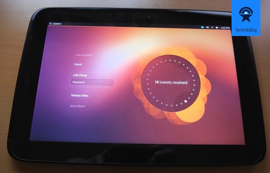 Lockscreen Multiuser auf Ubuntu für Tablets