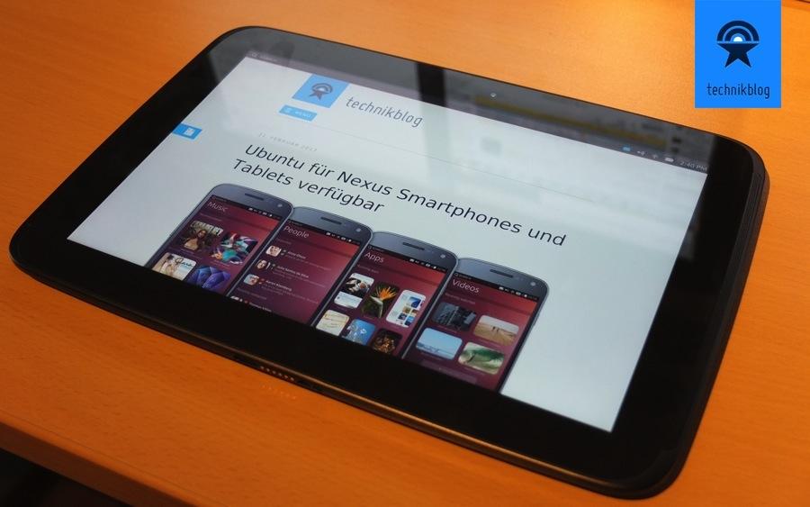 Nexus 10 mit Ubuntu OS