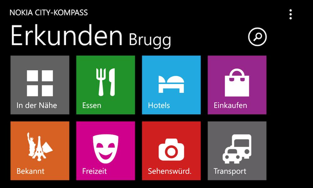 Nokia City Kompass - hilft in jeder Fremden Stadt