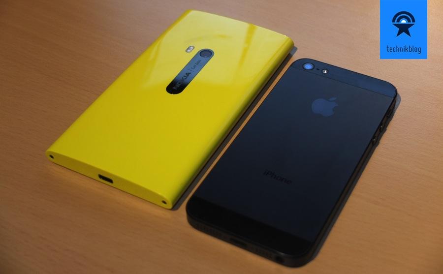 Nokia Lumia 920 Grössenvergleich mit iPhone 5