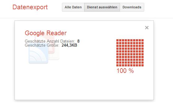 Google Reader Feeds exportieren