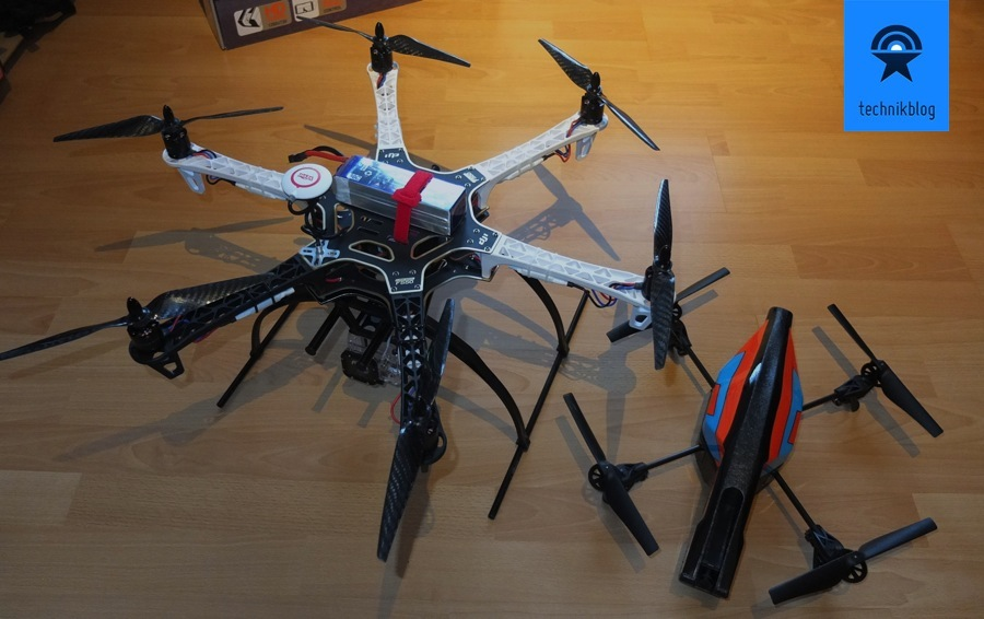Hexacopter DJI F550 und AR.Drone 2.0