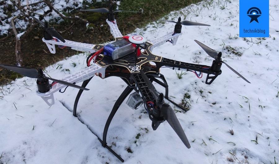 Mein erster Multicopter war ein DJI F550 Hexacopter.