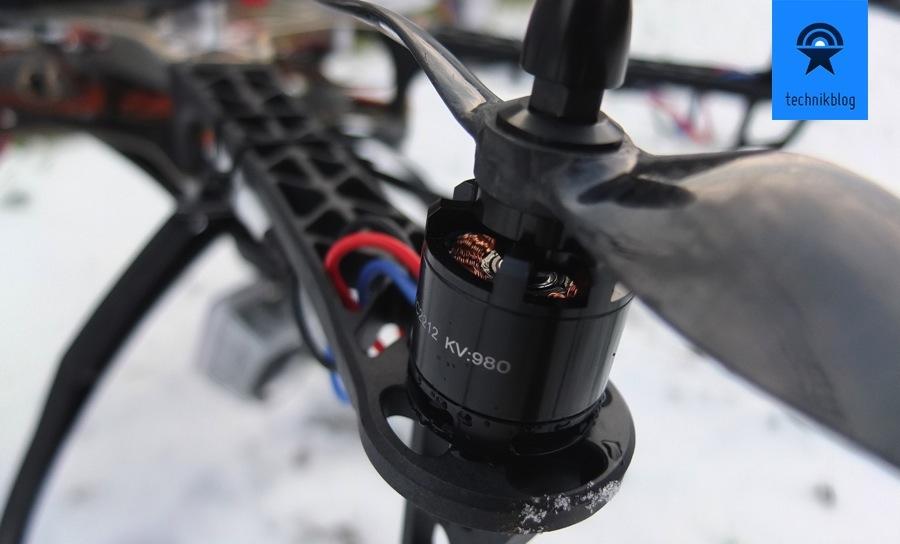 Projekt Multicopter - Zusammenbau - Motoren