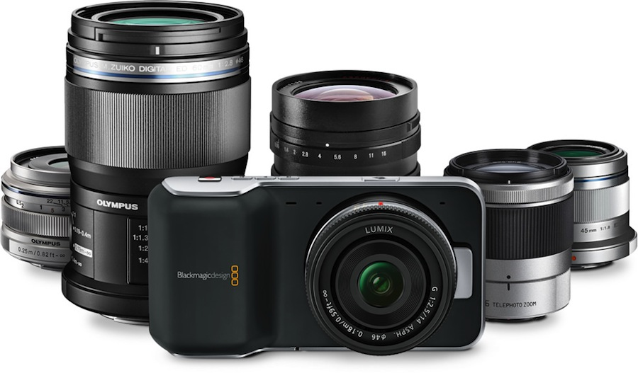 Blackmagic Pocket Cinema Camera mit Micro Four Third Objektiven