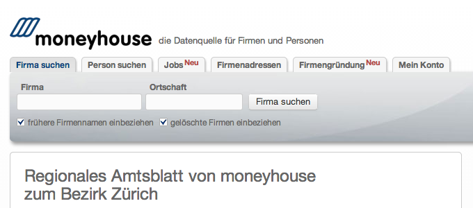 Moneyhouse am Pranger