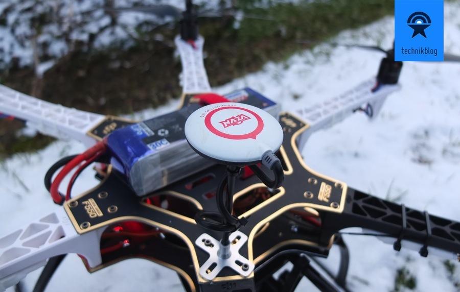 Projekt Multicopter - Zusammenbau - GPS mit Abstand montieren