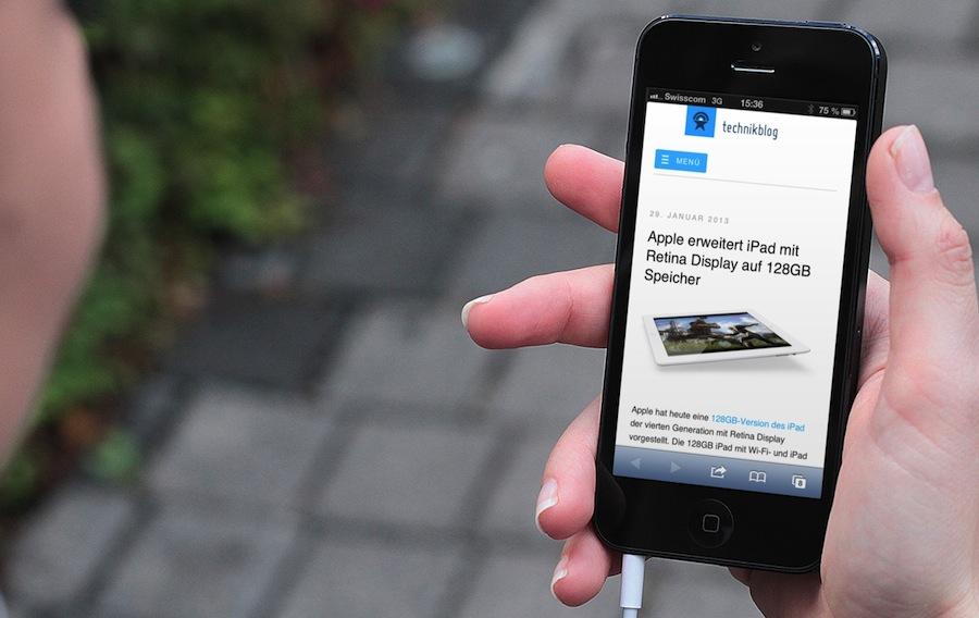 Technikblog auf dem iPhone - (c)breezi.com