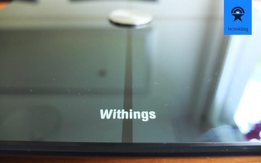 Withings Smart Body Analyzer spiegelnde Oberfläche